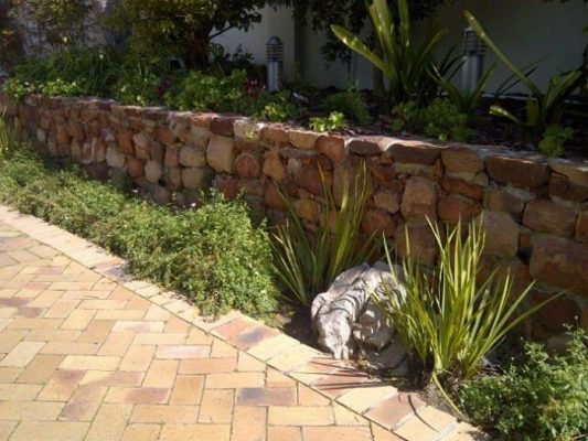Paving and Retainer Wall